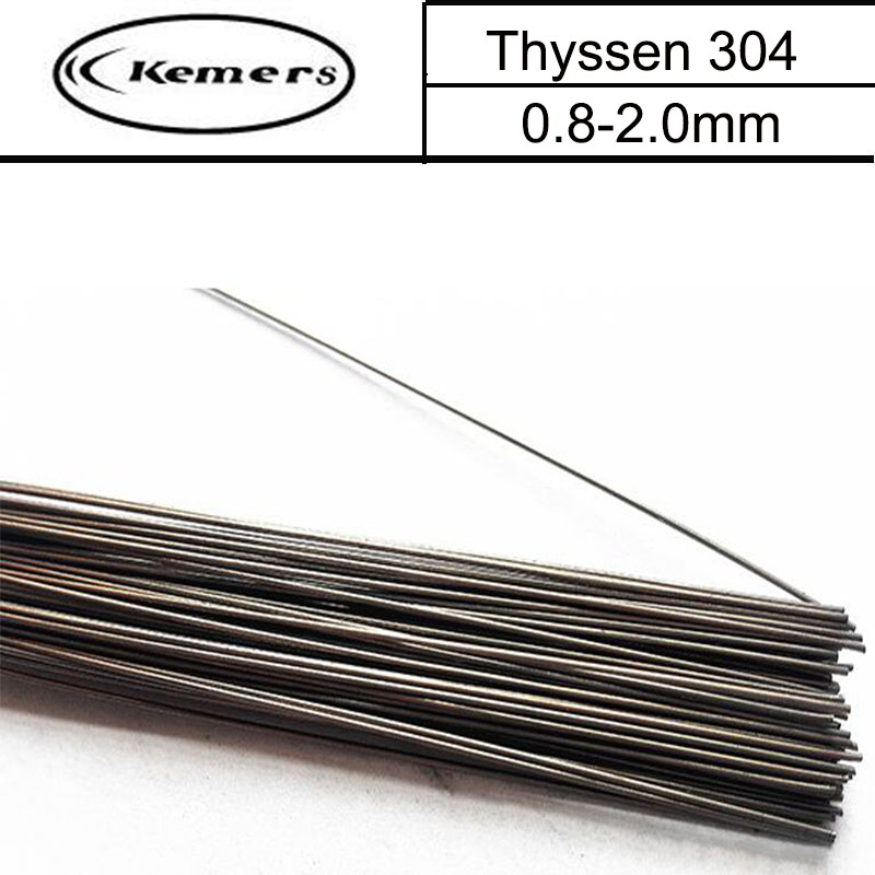 1KG/Pack Thyssen 304 TIG Welding wires&Repairing Mould argon Soldering Wire for argon arc (0.8/1.0/1.2/2.0mm) D33 argon arc welding machine for fire extinguisher