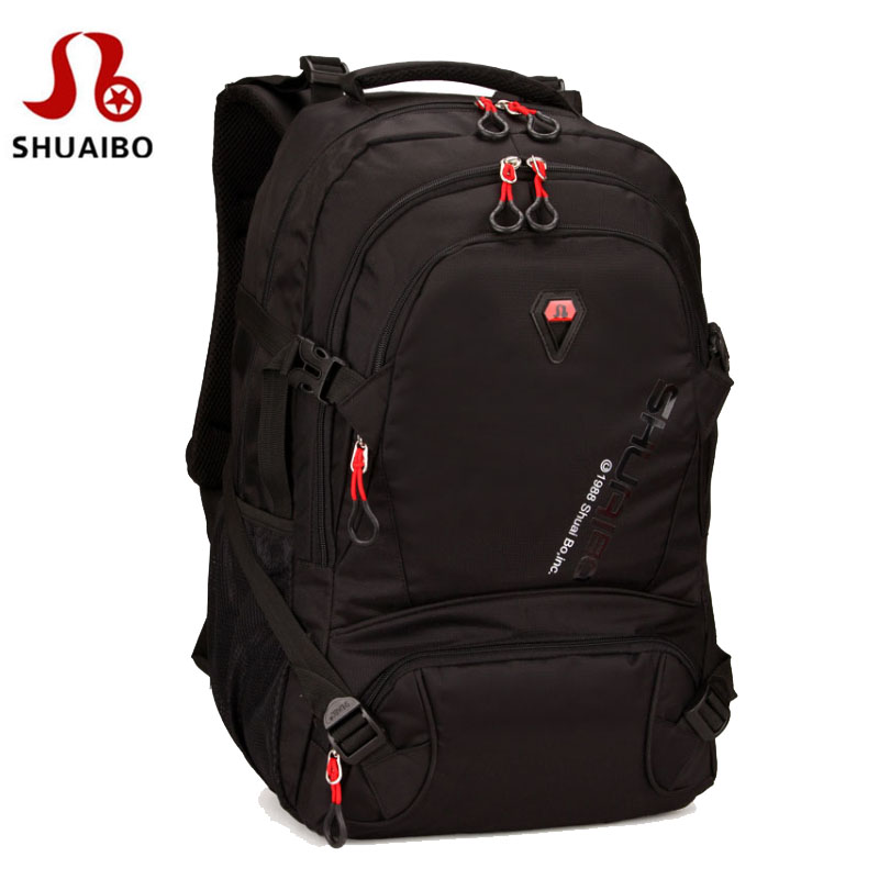 SHUAIBO brand Laptop computer backpack travel school bags Leisure double shoulder bag for men large capacity bags Notebook packs new canvas backpack travel bag korean version school bag leisure backpacks for laptop 14 inch computer bags rucksack