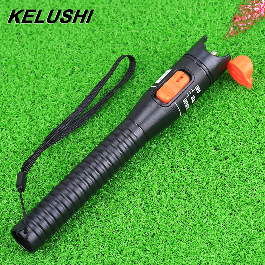 KELUSHI 10mW pildspalvas tipa plastikāta vizuālo kļūdu meklētāja optiskās šķiedras kabeļa testa mērītājs CATV