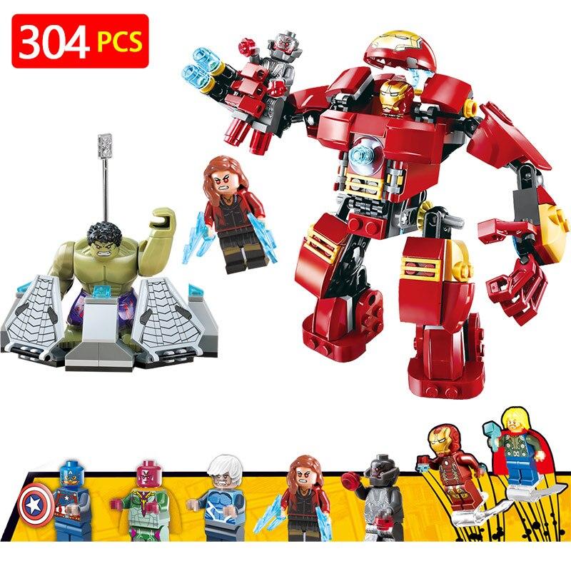 Marvel Super Hero Blocchi LegoINGLYS Avengers Technic 76105 Il Hulkbuster Ultron Edizione Modle Mini Action Figure Giocattoli Dei Mattoni