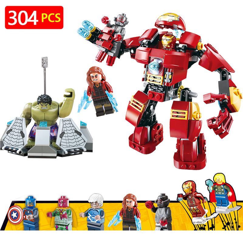 Marvel Super Hero Blocks LegoINGLYS Avengers Technic 76105 The Hulkbuster Ultron Edition Modle Mini Action Figures Bricks Toys цена