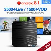 IUDTV IPTV Spain Europe Germany Turkish IP TV Box T95X2 Android 8.1 S905X2 2+16G H.265 Decoder 4K IPTV Android Set Top Box