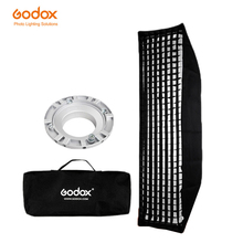 """Godox FW22 * 90 softbox 22x90cm 9 """"x 35"""" taşınabilir dikdörtgen petek izgara Softbox yumuşak kutu için Bowens dağı stüdyo flaş"""