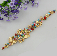 Noble Vintage Bridal Tiaras Multicolour Crystal Gold Headband Best Gift For Bride Wedding Hair Accessories
