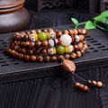 Kalimantan Aloes Wood 8mm108 Diy Bracelets & Bangles With Olive Tibetan Rosary Prayer Beads
