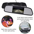2017 ZYD439E 4.3 Дюймов Автомобиля MP5 Зеркало Заднего вида Монитор HD Авто Парковка Монитор Ночного Видения Резервная Камера Помощи При Парковке