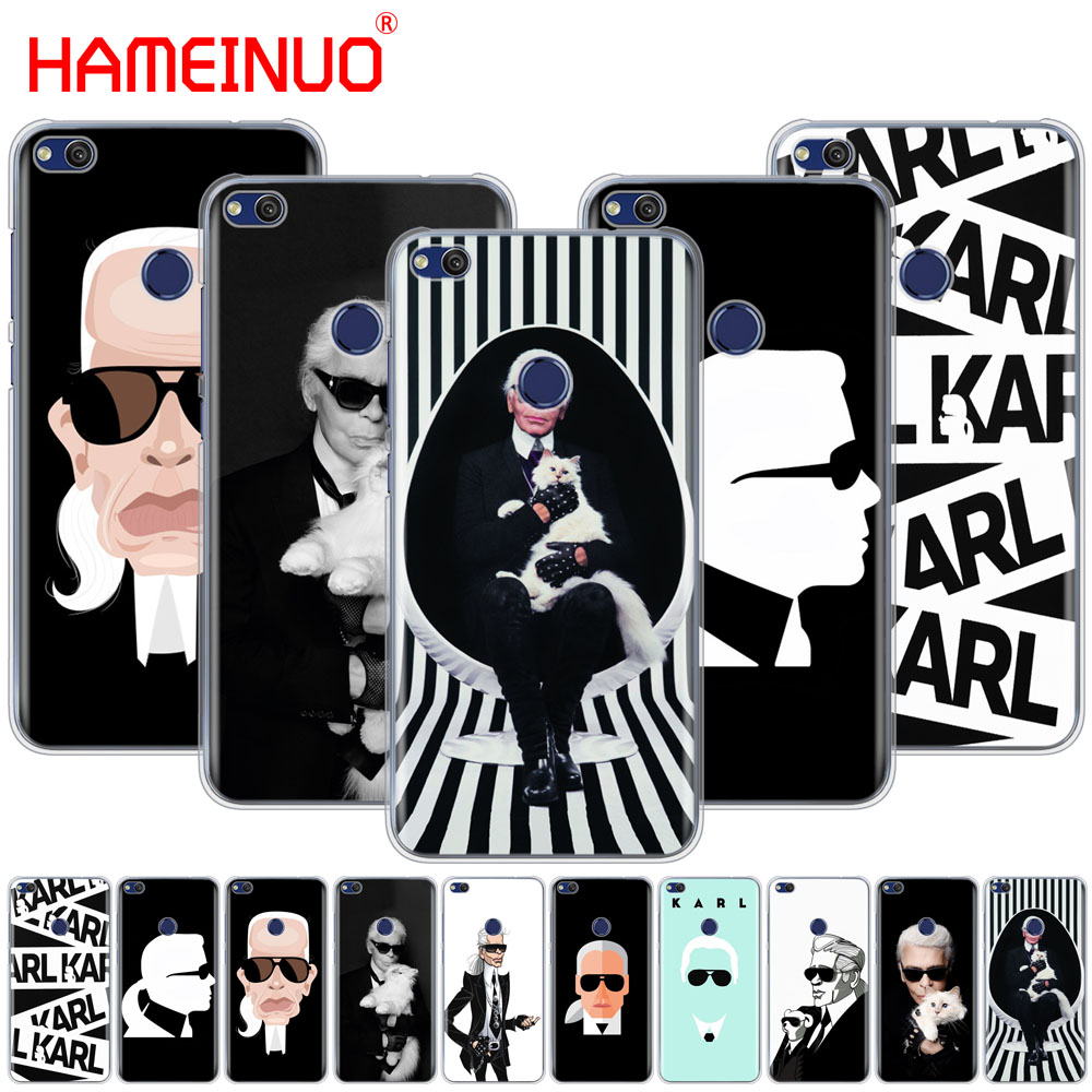 HAMEINUO Fashion Karl Lagerfeld Green Cover phone Case for huawei Ascend P7 P8 P9 P10 P20 lite plus pro G9 G8 G7 2017