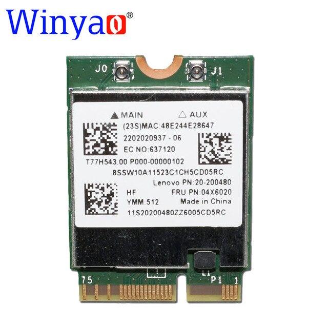 Winyao bcm94352z ngff wireless-ac dual band 802.11ac broadcom 300 m + 867 mbps wifi bluetooth bt 4.0 cartão para ibm/lenovo/thinkpad