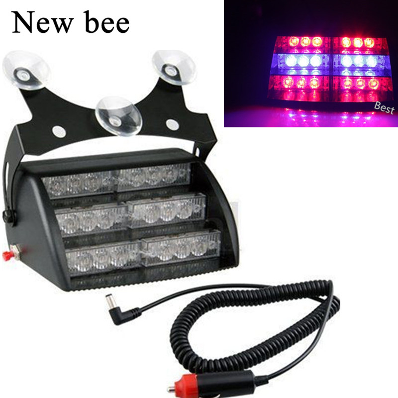 Newbee Car Styling Truck 18 LED Yellow U0026 White Blue Red Strobe Flash  Warning Safety Light Flashing Emergency Rescue Lamp