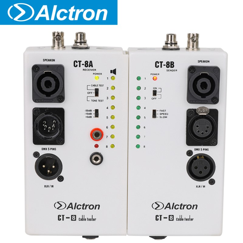 Alctron CT 8 professional multi purpose audio cable tester line test instrument engineering wiring separation test