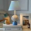 Mediterranean Kids Wooden Desk Lamp Children Room Desktop Lamp Switch Button  E14 AC 220V 110V  Nordic Fashion Led Desk Lamp