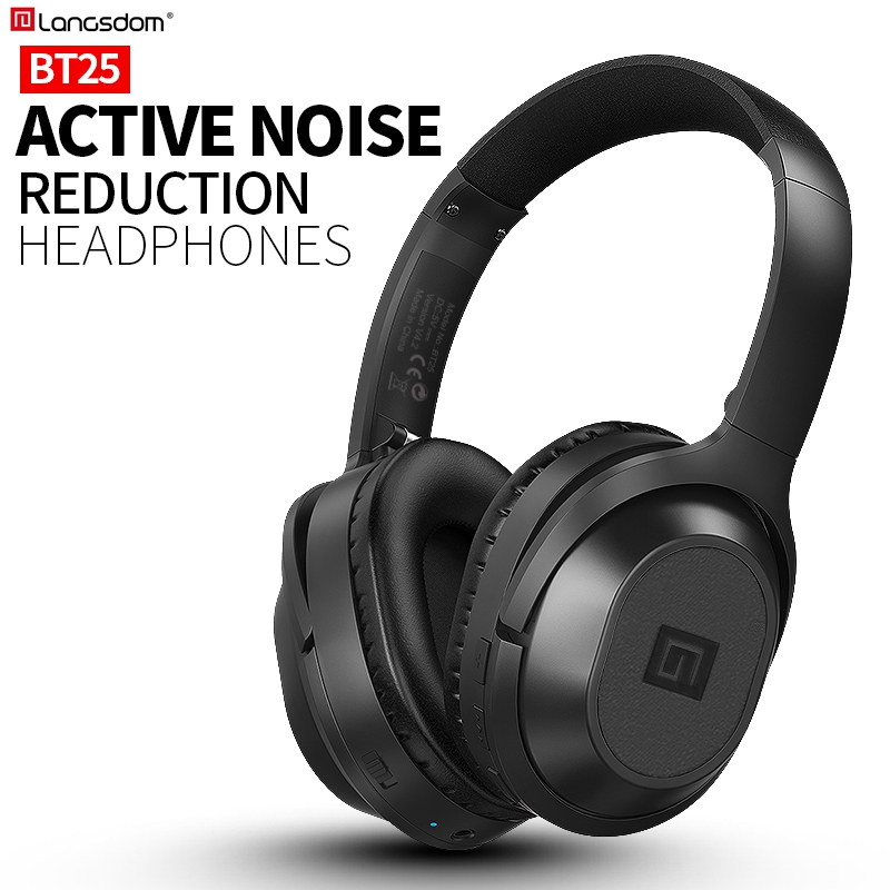 Langsdom BT25 Bluetooth casque actif suppression de bruit casque sans fil stéréo Bluetooth casque avec micro pour téléphone - 2