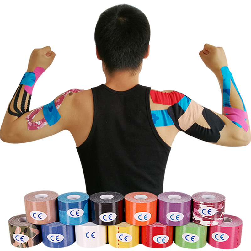 Tape-Care Support Adhesive Muscle-Stickers Elastic Kinesiology Cotton Strain Fitness