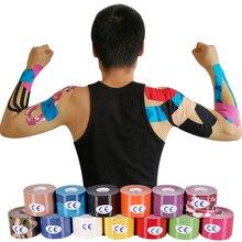 Fitness sportowy taśma kinezjologiczna pielęgnacja Kinesio rolka bawełna elastyczny klej bandaż mięśni uraz wsparcie mięśni naklejki
