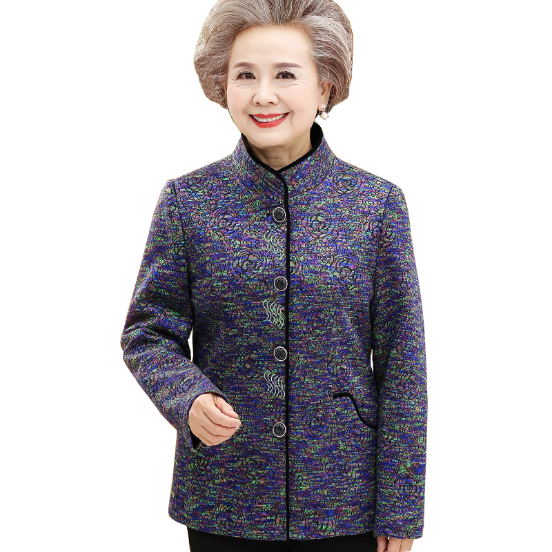2019 New Spring print   Jacket   Autumn   Basic     Jacket   for Women Old age clothing Fashion Elegant   Jackets   and Coats Feminina NW1206