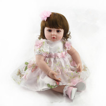 22 inch Fashion Silicone Reborn Baby Dolls Sleeping Babies Real Vinyl Belly 55cm Toys for Children Juguetes Brinquedos Gifts