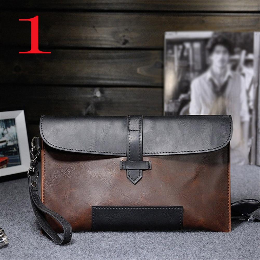 HTB1t6h7XdfvK1RjSszhq6AcGFXap Hot Sale Men PU Leather Business Work Handbag 2018 New Fashion Male Solid Color Envelope Bag Briefcase