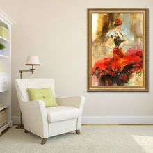 Spanish Flamenco Dancer painting latina woman Oil painting on canvas hight Quality Hand-painted Painting latina