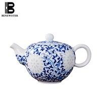300ml Jingdezhen Hand Painted Underglaze Blue and White Porcelain Teapot Ceramic Tea Pot Travel Teaware Kung Fu Tea Set Kettle