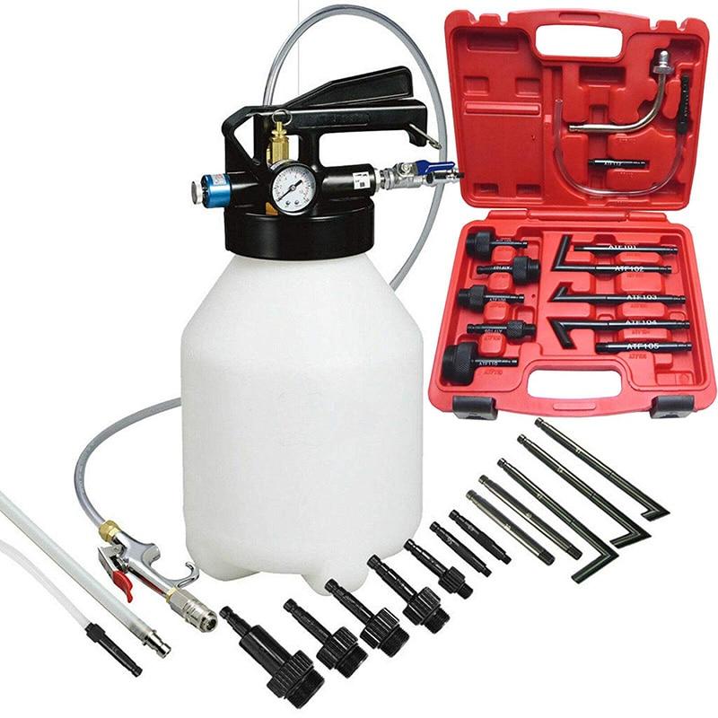 FIT TOOLS Manual 7.5L ATF OIL Dispenser w// 8 Pcs ATF Refill Adapter System Kit.