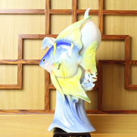 Creative ocean vase ceramic Tropical Fish flowers vase home decor vases for wedding decoration crafts room decoration objects