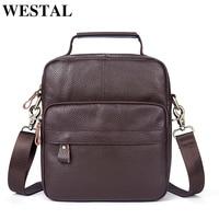 WESTAL Genuine Leather Men Bag Men Messenger Bags Fashion Small Shoulder Crossbody Bags for Man Handbag Men's Leather Bag Flap