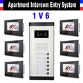 Selection 2,4,6,8,10,12 Unit Apartment Video Door Phone System 6 Units 7 Inch Monitor Video Intercom Doorbell Door Phone