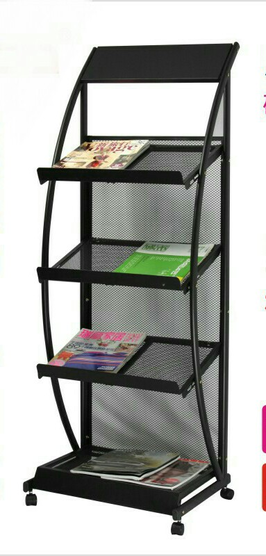 Magazine Racks Office Furniture Home Commercial Furniture Iron Portable  Bookcase Magazine Rack Can Customize New 48.