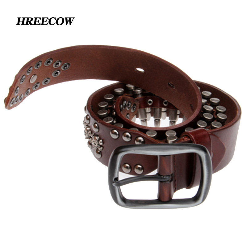 Novelty Personality Bullet Belts Genuine Leather Men Belt Luxury Designer Belt For Men High Quality Metal Buckle Jeans