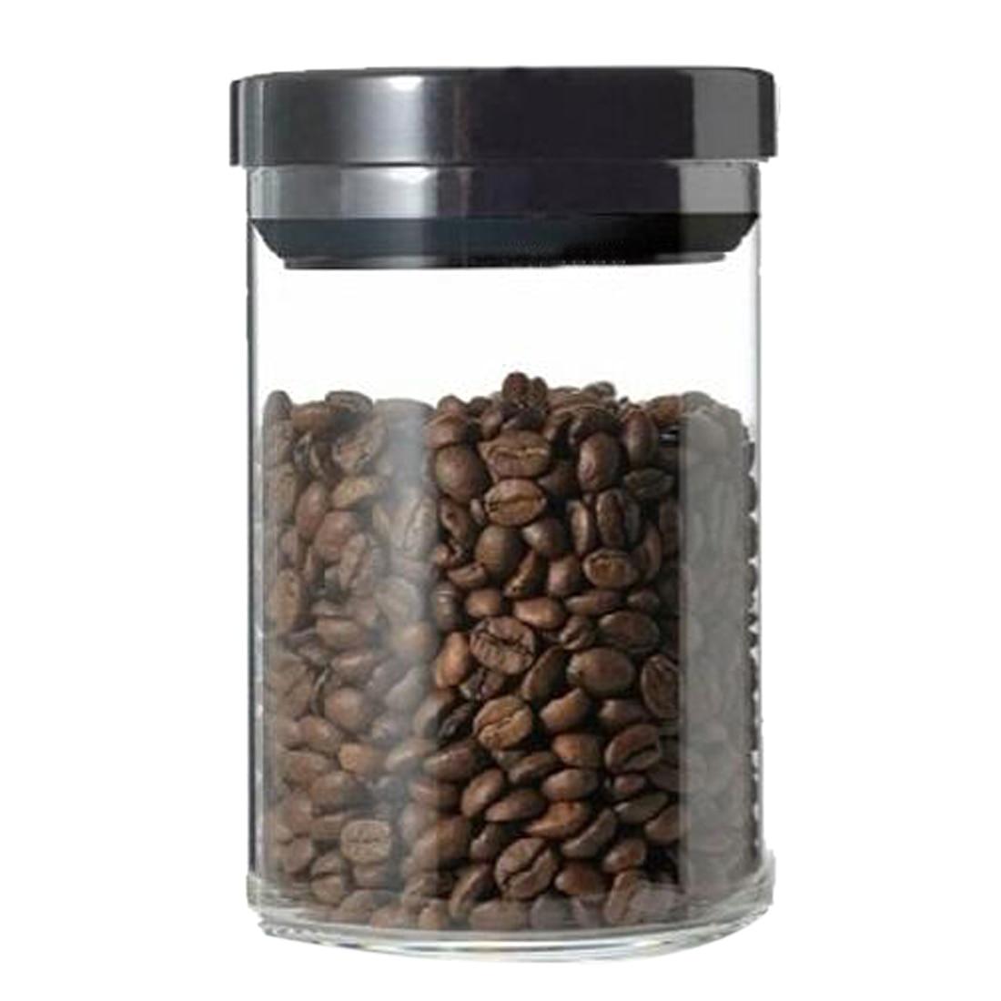 New Arrival 900mL Transparent Glass Store Vacuum Can Tea Coffee Bean Milk Powder Kitchen Storage Jar with Lid