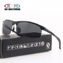 Rui Hao okulary okulary przeciwsłoneczne do jazdy okulary męskie polaryzacyjne okulary polaryzacyjne okulary przeciwsłoneczne UV okulary pilotki Design okulary tanie tanio 8177# UV400 Magnes aluminium RUI HAO EYEWEAR Z poliwęglanu 41mm 70mm Dla osób dorosłych