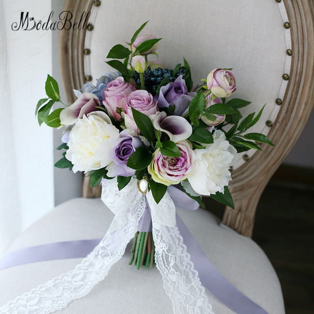 Modabelle Western Style Vintage Purple Wedding Brooch Bouquet ...