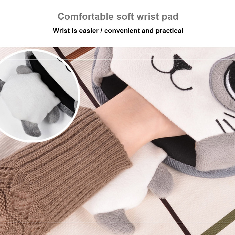 Winter Warm Mouse Pad USB Heating Cartoon Thick Plush Hand Warmer Comfortable Heated Mouse Mat DTT88