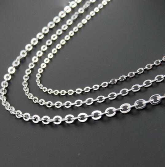 Unisex 1.5mm Wide Stainless Steel Oval Link Necklace - Length: 50cm KlVVqQCAcI