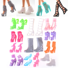 12Pairs/Set Doll Shoes Fashion Cute Colorful Assorted For  With Different Styles High Quality Baby Toy