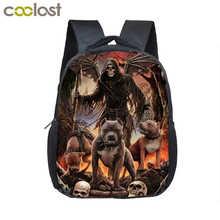 9844ba7e1e Cool Skull Mini Backpack For Kids Diaper Bag For Boys Girls Kindergarten  Bag Children Small School