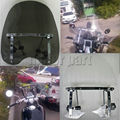"Motorcycle Large Windshield  Windscreen For 19""x17"" Kawasaki Vulcan 900 800 500 88 S 650 With 7/8"" And 1"" Handlebars"