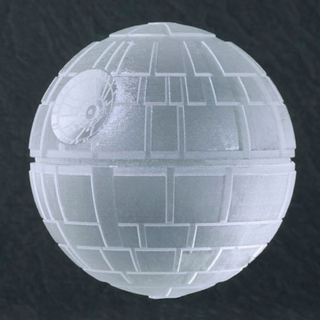 Free shipping Wars Death Star Silicone Round Ice Cube Mold Tray Desert Sphere Mould DIY Tool