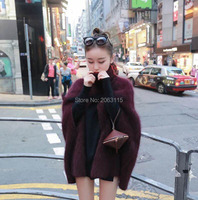 Genuine Mink Cashmere Sweater Women Cashmere Pullovers Knitted Jacket Customized Color Free Shipping