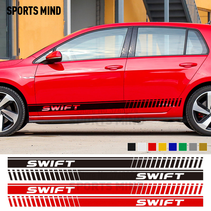 1 Pair Customizable Car Styling Door Stickers Decal Automobiles For Suzuki Swift Sport Car Stickers Exterior Accessories