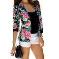 Lowest price free shipping New Blazer Women Fashion Women's  Slim Design Turn-down Collar Blazer Grey Short Coat Jackets