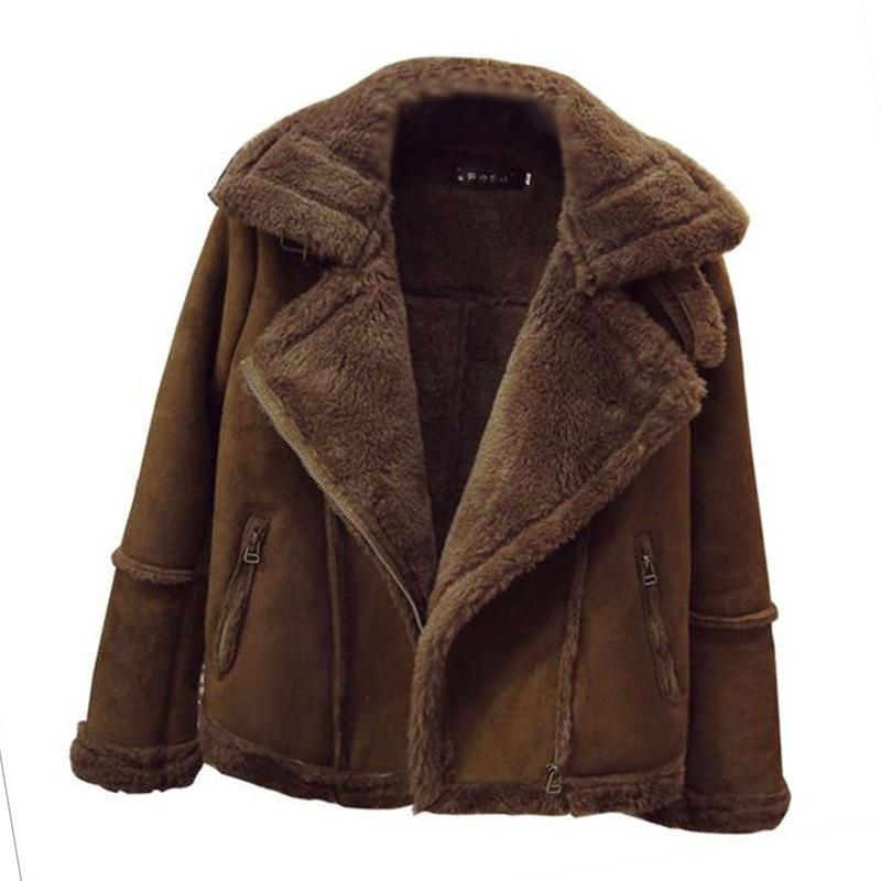Women s Fur Coat Winter Faux Sheepskin Lamb Plus Size XS To 4XL 5XL 6XL Thick
