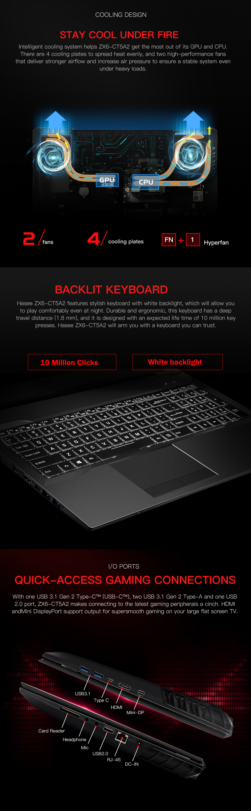 Ноутбук hasee ZX6-CT5A2 для игр(Intel Core I5-9400+ GTX 1050Ti/8GB ram/512G SSD/15,6 ''IPS 45% NTSC) настольный ноутбук hasee
