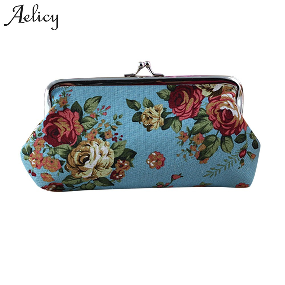 Aelicy Women Wallet Women Purse Female Bags Coin Purse Cute Small Wallets  Prints Girls Money Bag Lady Hasp Credit Card Holder