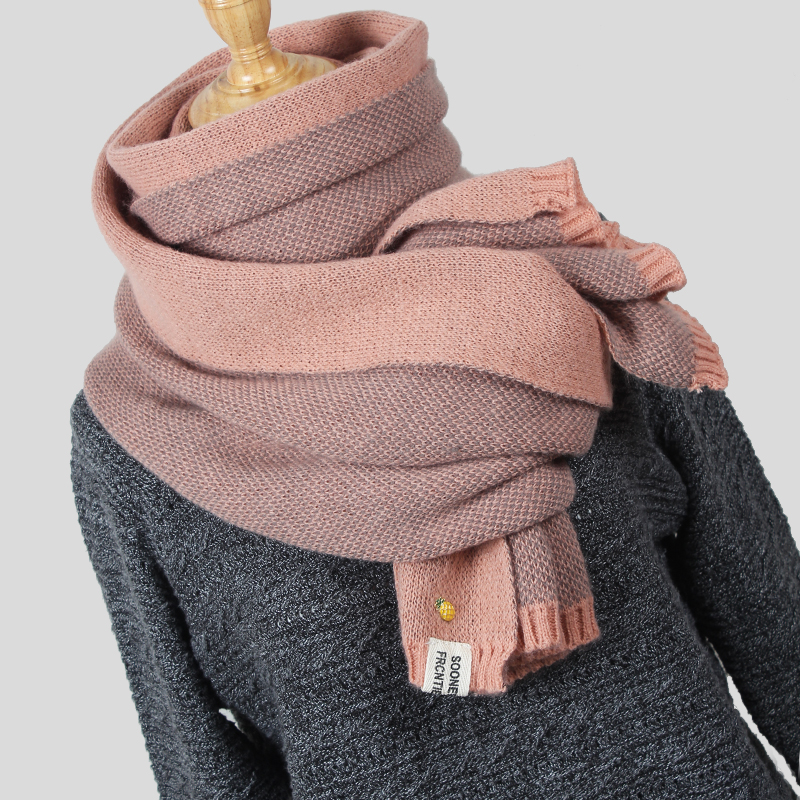 High Quality Women's Scarf Winter Wool knitted Scarf Collar Scarves Thicken Warm Fashion pineapple Stole Shawl Wrap mx001|shawl wrap|knit scarf|fashion women scarf - title=
