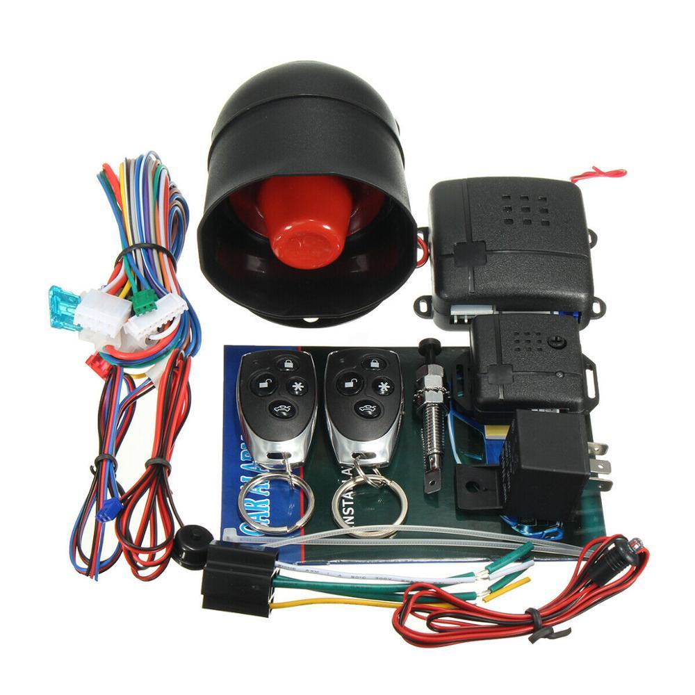 Image 3 - ユニバーサル 1 双方向車の警報システム保護セキュリティシステムキーレスエントリーサイレン + 2 リモコン盗難警報盗難警報   -