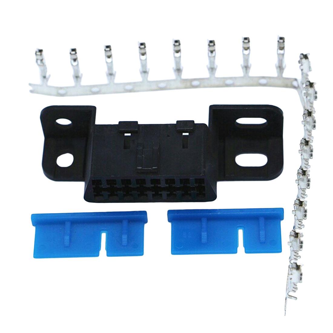 Marsnaska 16pin Obd2 Connector OBD 2 16Pin Female Angle Connector OBD Female Wire Sockets Connector Obd Adapter Diagnostic Tools