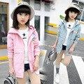 Kids girls spring / autumn coat 2017 new baby girls' clothing fashion printing Smile Jacket 4/5/6/7/8/9/10/11/12/13 years