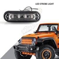 Gratis verzending 4 stks 4 inch 4 W LED strobe noodverlichting truck trailer tractor machine bosbouw motor veiligheid flash amber lamp