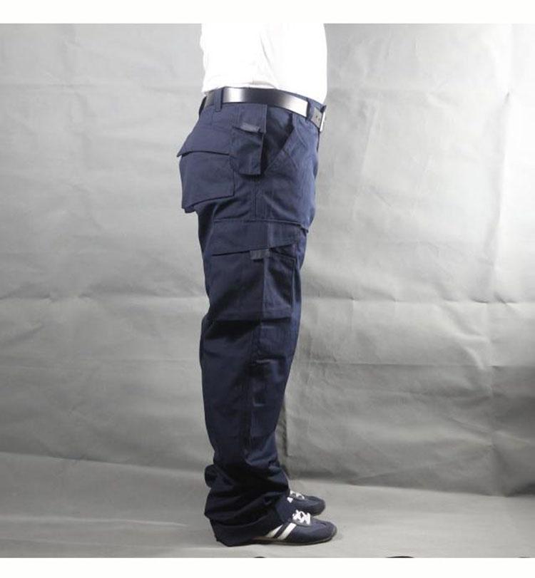 Working pants men multi pockets work cargo pants large size loose style men\'s labor trousers wear-resistance welding repairman (17)